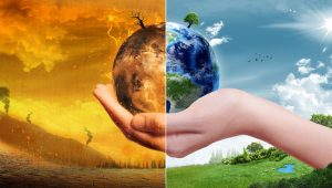 Global Warming and Pollution Concept – Sustainability (Elements of this image furnished by NASA)