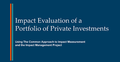 Impact Evaluation of a Portfolio of Private Investments
