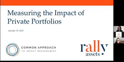 Measuring the Impact of Private Portfolios